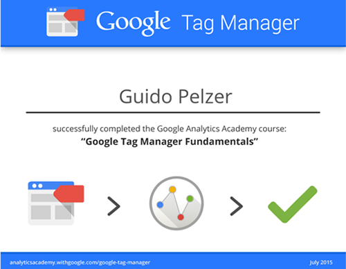 Guido Pelzer- GTM Course Sucess